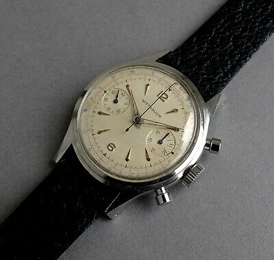 $ CDN1701.32 • Buy WITTNAUER CHRONOGRAPH Stainless Steel Vintage Watch 1950's