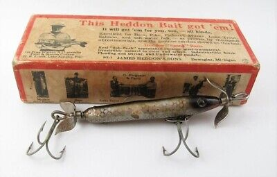 $ CDN27.21 • Buy HEDDON Vintage UNCATALOGUED Shiner Scale BABY TORPEDO SPOOK Lure In BOX 9129P
