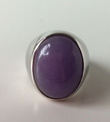 $ CDN59.85 • Buy QVC Sterling Silver Lavender Jade Large Ring Size P Never Worn