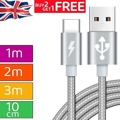 £2.79 • Buy Strong Braided USB Type-C Cable Fast Charging High Durability Charger Data Lead