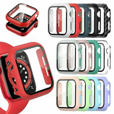 $ CDN4.27 • Buy For Apple Watch Case Series 1/2/3/4/5/6/SE Cover Glass Screen Protector 38/40/42