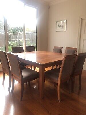 AU186.50 • Buy Solid Wood & Fabric Dining Chairs - Jarrah Set Of 8