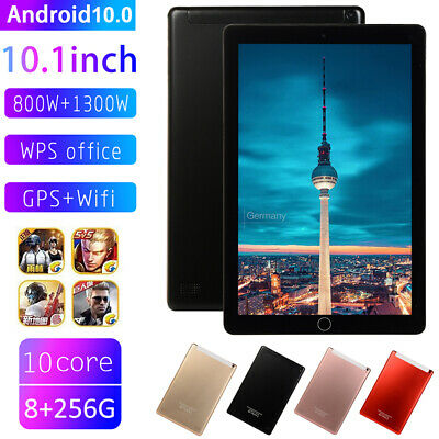 AU97.99 • Buy 10.1  PC 8+256GB Octa Core Dual SIM Camera GPS Phablet Android 10.0 Tablet