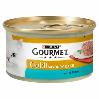 £10.49 • Buy Gourmet Gold Savoury Cake With Chicken Or Salmon Or Tuna - 85g X 12 Pack