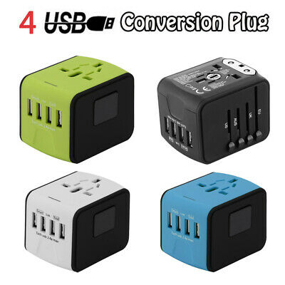 AU20.45 • Buy Universal World Travel Adapter Electric Converter USB Plug Mobile Phone Charger
