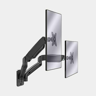 £39.99 • Buy Black Dual Monitor Wall Mount 17  32  Helps Reduce Eye, Neck And Back Strain