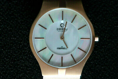 £89.99 • Buy Obaku Harmony Mens Quartz Watch Mother Of Pearl Face And Brushed Copper Chassis