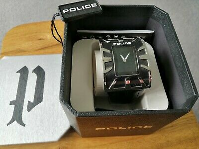 £40 • Buy Police Mens Black Dial Watch With Black Leather Strap