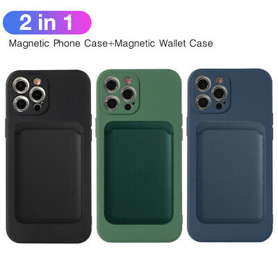 AU13.98 • Buy Magnetic Liquid Silicone Wallet Card Case Cover For IPhone 12 11 Pro X 7 8 Plus