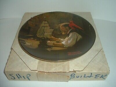 $ CDN15.09 • Buy Edwin Knowles Norman Rockwell The Ship Builder Heritage Collection Plate W Box