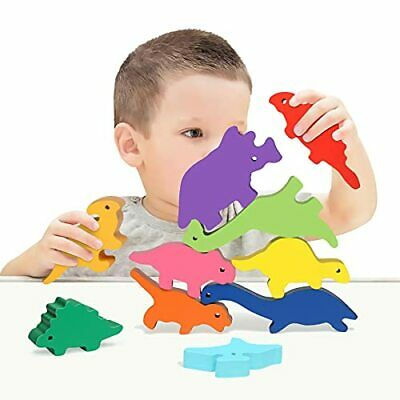 AU34.74 • Buy TROJOY Toys For 2-5 Year Old Boys Large Dinosaur Toys Wooden Stacking Games F...