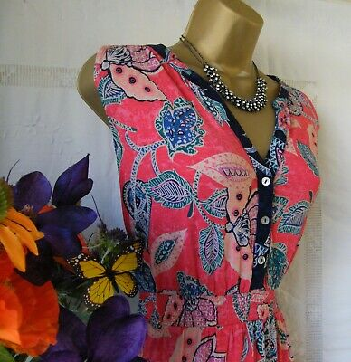 £34.99 • Buy ******monsoon Bnwt  Lucy Coral  Dress Size 16******