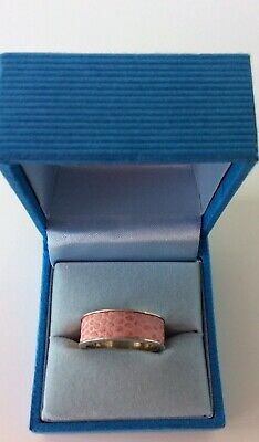 $ CDN25.65 • Buy QVC Sterling Silver Pink Leather Snakeskin Band Ring Size O Never Worn