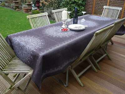 £18.93 • Buy Tablecloth Provence 150x200 CM Dark Grey From France Easy-Care Non-Iron