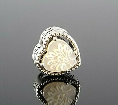 AU57.44 • Buy Authentic Pandora Openwork Heart & Family Tree Silver Pearl Charm S925 ALE
