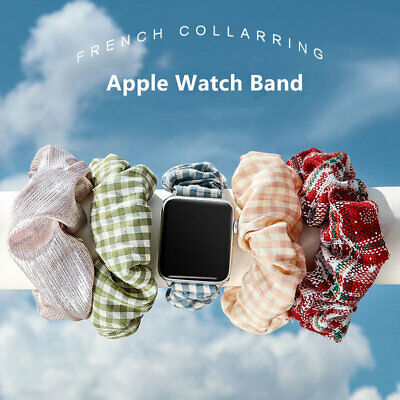 AU12.99 • Buy Soft Scrunchie Loop Band Strap For IWatch Serie SE 6 5 4 3 Apple Watch 38mm 42mm