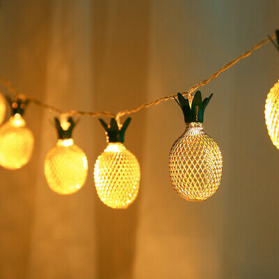 £9.59 • Buy 2pc Pineapple LED Fairy String Lights Battery Operate Party Indoor Bedroom Decor