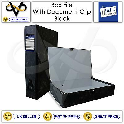 £6.95 • Buy Tallon Box File With Document Clip Black Organiser Folder Case Papers Storage