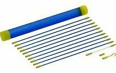 £6.65 • Buy 13PC CABLE ACCESS KIT 10x330mm RODS ELECTRICIANS PULLER RODS + ACCESSORIES EL111