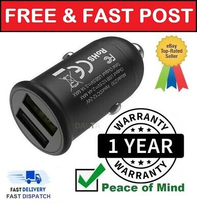 £2.99 • Buy Fast Car Charger USB Cigarette Lighter Socket Dual Adapter IPhone Samsung Huawei
