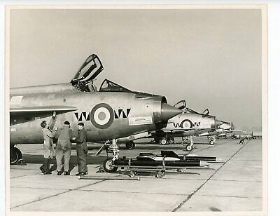 £1.99 • Buy Photograph Of English Electric Lightning F.1 Line-Up  74 Sqn Coltishall