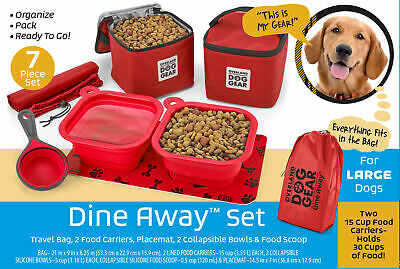 $ CDN72.42 • Buy Mobile Dog Gear Dine Away Dog Travel Bag For Medium And Large Dogs Red