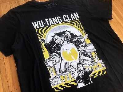 $ CDN60.65 • Buy Wu-Tang Clan Kung Fu Film Men's Black T-shirt Sz XL Protect Ya Neck Wu Wear