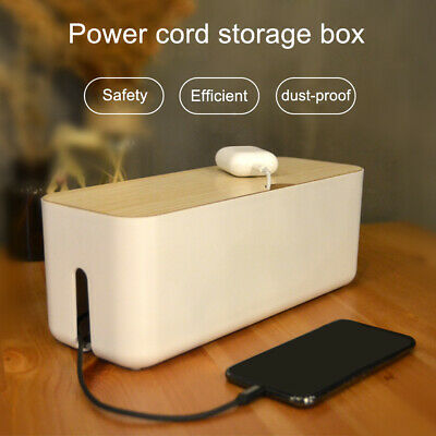 £14.09 • Buy Cable Management Box Household Power Socket Data Cable Storage Organizer Box