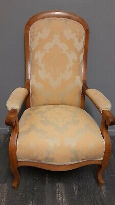 £60 • Buy Cream Beige Ivory French Damask Antique Vintage Style Armchair Carver Chair