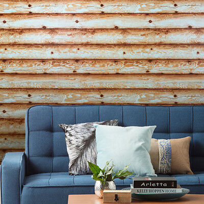£39.37 • Buy Wallpaper Textured Non-Woven Wall Coverings Brown Wood Planks Boards Horizontal