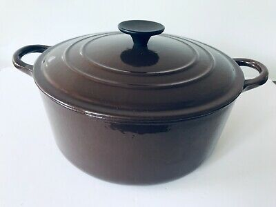 £45 • Buy LE CREUSET 24 CAST IRON DUTCH OVEN CARAMEL BROWN  CASSEROLE DISH W/ LID 4.2 Ltr
