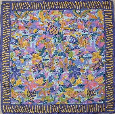 £48.97 • Buy Collectible Authentic Australian KEN DONE Silk Twill Scarf
