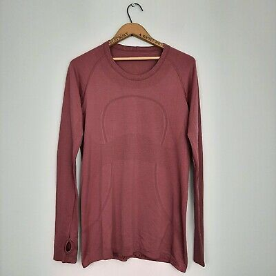 $ CDN48.51 • Buy Lululemon Womens Size 12 Swiftly Tech Long Sleeve Misty Merlot Mauve Running Top