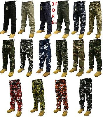 £19.33 • Buy Army Cargo Camoflage Combat Military Trousers/pants 30 -56  Waist 32  & 30  Leg