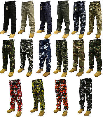 £19.89 • Buy Camouflage Combat Trousers Multi Pocket Army Cargo Camo Military  Pants 28 -56