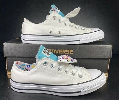 £28.81 • Buy Converse Chuck Taylor All Star Ox Double Tongue White Hearts 560862F 8 Women