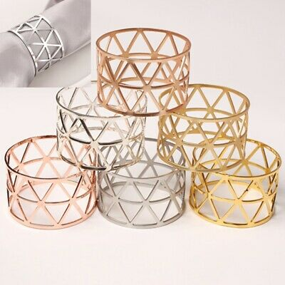 £8.39 • Buy 12 X Metal Napkin Rings Wedding Decor Dinner Table Napkin Party Accessories