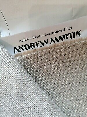 £45 • Buy Linen Natural Weave Woodstock Stone By Andrew Martin Upholstery Fabric 140x100cm