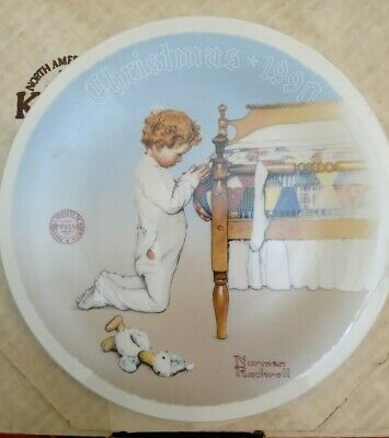 "$ CDN22.75 • Buy Knowles Norman Rockwell Classic Society Plate ""A Christmas Prayer"" 1990 Boxed"