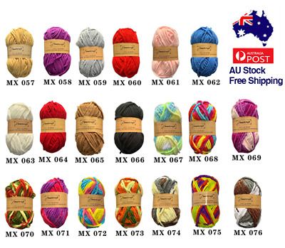 AU14.90 • Buy Knitting Yarn Thick 8 Ply Soft Crochet Craft Polyester 100g 20 Colours 5/12 Ball