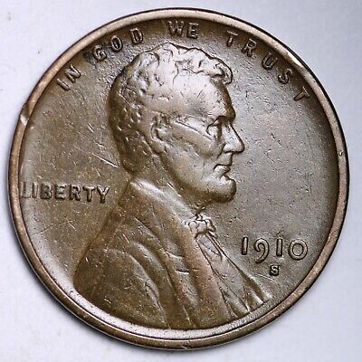 $ CDN10.92 • Buy XF 1910-S Lincoln Wheat Cent Penny FREE SHIPPING