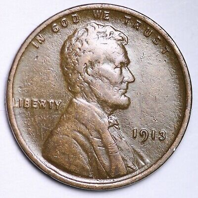 $ CDN3.45 • Buy XF+ 1913 Lincoln Wheat Cent Penny FREE SHIPPING