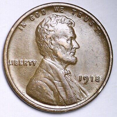 $ CDN1.20 • Buy AU 1918 Lincoln Wheat Cent Penny FREE SHIPPING