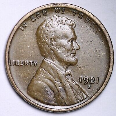 $ CDN6.38 • Buy XF 1921-S Lincoln Wheat Cent Penny FREE SHIPPING