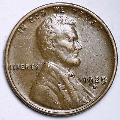 $ CDN1.20 • Buy AU 1929-D Lincoln Wheat Cent Penny FREE SHIPPING