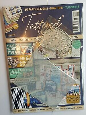 £11.99 • Buy Tattered Lace Magazine Issue 90 Camper Die Charisma Embossing Folder Papers New