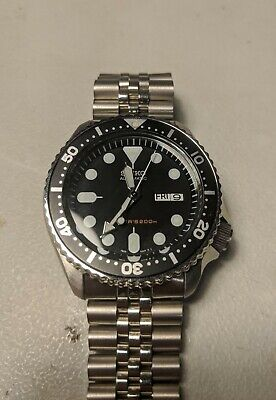 $ CDN392.43 • Buy Seiko Skx007 Automatic AFTERMARKET PARTS UPGRADE NH36 (misaligned Day Wheel)