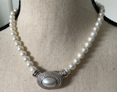 $200 • Buy Judith Ripka Pearl Strand 17  Magnetic Clasp & Mabe Pearl Pendant