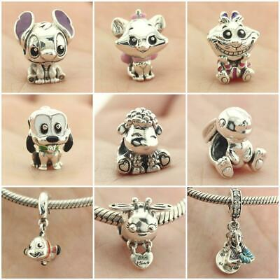 $12.50 • Buy 925 Sterling Silver Lilo Stitch Cheshire Aristocats Marie Cat Charm Dangle Bead