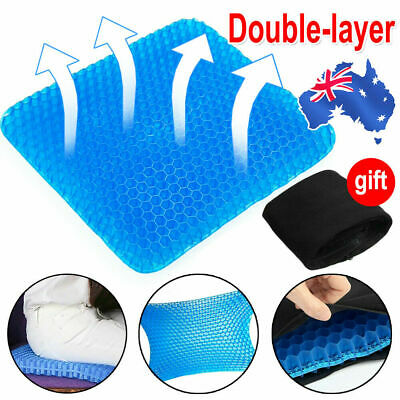 AU27.89 • Buy 2Layer Honeycomb Gel Seat Cushion Car Home Office Chair Back Support Pain Relief